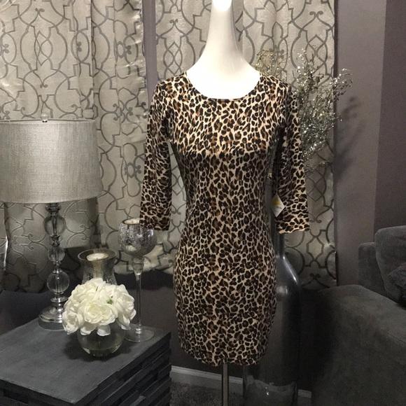 2e7614ba523 MODA international cheetah dress